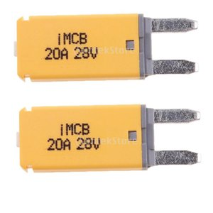 2 Pack Auto Car Truck Electrical Protection Blade Fuse Manual Reset Mini Circuit Breaker Blade Fuse 20A Yellow