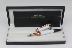 Top qualità fortunata serie stelle unico Roller Penna in resina alta qualità bianca con la scuola ufficio assetto penna regalo fornitura d'oro della Rosa