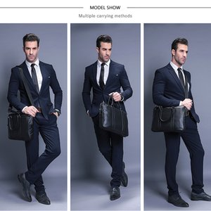 VORMOR Promotion Simple Famous Brand Business Men Briefcase Bag Luxury Leather Laptop Bag Man Shoulder Bag bolsa maleta 200918