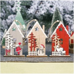 House Novel Creation Christmas Decoration Christmas Tree Ornaments Tree Pendant Xmas Indoor Home Decor Hanging Gifts