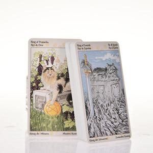 Carte dei tarocchi gatti adulti Partito Consiglio Forniture Tarocchi dei bambini in giochi Pagan partito 78 Entertainment PC dnKFi allguy