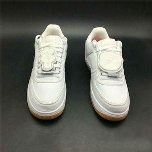 Hommes Blanc 1 Skateboard Chaussures TRAVIS SCOTT X chaussures en toile Femmes Sneakers mode Forces chaussures Casual avec la boîte