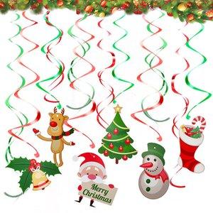 Spiral New enfeites dos desenhos animados da árvore de Natal de suspensão partido Home Natal enfeites de decoração DHL frete grátis