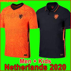 TOP Países Bajos Euro 2020 camiseta de fútbol 2021 DE JONG camisetas de Holanda chandal 20 21 Strootman MEMPHIS PROMES Men + niños uniforma de la