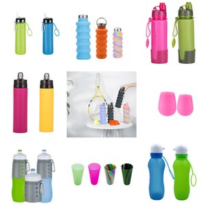 500ML Collapsible Silicone Water Cup Camouflage Telescopic Water Cup Portable Outdoor Sports Bottle Creative Compression Cup