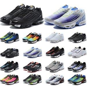 Nike Air Max TN Plus Se 3 airmax мужчины женщины кроссовки мужские кроссовки кроссовки Pre-Day тройной черный основной белый серый США мода женские кроссовки спортивные