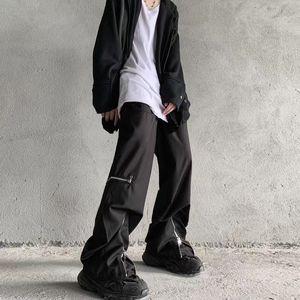 Original Retro Zipper gamba larga Pantaloni Uomini e Donne elastico vita libera Cargo Pants Hip Hop Baggy Tuta