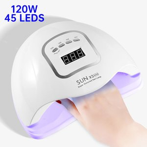 120W UV LED Nail Lamp For Manicure 45 Leds Nail Dryer For All Gels Polish LCD Display Lamp For Drying Nails Manicure Tools 200924