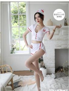 Одежда Фестиваль Специальных Женской Одежды Halloween Sexy Nurse Costume Мода белого Сплит профессиональные женщины