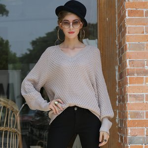 V-neck knitted sweater 2020 Fall Winter New Women's Loose Women's knitted sweater