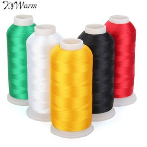 Kiwarm New 5000m Cones Polyester Bobbin Thread Filament For Embroidery Machine Household Sweing Handmade Tools Accessories