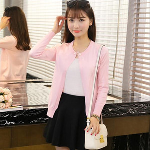 women sweater J60067 Summer Office Lady Cardigans Crochet Knitted Tops Cardigans Drop Shipping Good Quality