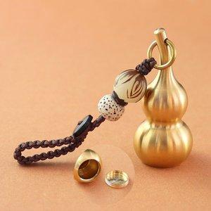 1PC Oro Calabaza colgante llavero cremación Botella Ash Urna Collar conmemorativo del recuerdo de la joyería de los collares pendientes