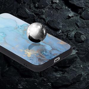 Moda mármol vidrio templado Volver Shell para el iPhone 11 Pro máximo de golpes Escudo de protección del teléfono móvil para el iphone 6 7 8 XS XR Caso MAX