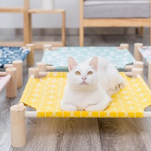 Detachable Cat Hammock Durable Kitty Raised Bed Pet House Lazy Mat Cushion Lounger Cats Small Pets Outdoor Canvas Camp Bed Tools