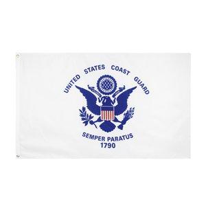 Vereinigte Staaten von American Military USCG Coast Guard Flagg HOTSALES Direkte Fabrik hängen 3x5ft Polyester