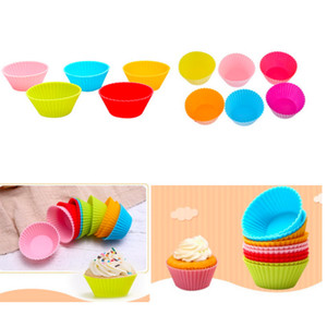 Reusable Colorful Silicone Baking Cups Muffin Silicone Cup Cake Mold Case Baking Moulds for DIY Baking Kitchen Tools