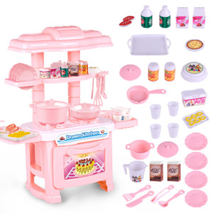 Kids Kitchen Set Children Kitchen Toys Large Cooking Simulation Model Colourful Play Educational Toy for Girl Baby new