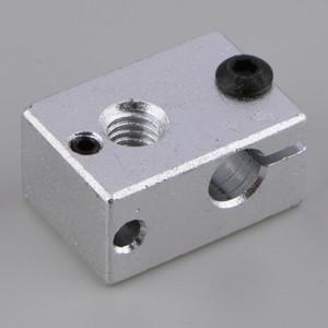 V6 алюминиевый нагреватель Блок M6 Насадка для MK7 MK8 3D принтер Экструдер горячего конца Нагревательный блок