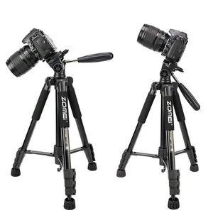 ZOMEI Q222 Camera Tripod Tripode Stative flessibile tripode fotografica stand monopiede viaggio per Smartphone fotocamera DSLR proiettore
