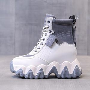 2020 Inverno Stivali Donna della caviglia di modo 10 centimetri Altezza crescente Shoes Chunky Gladiatore Nuova donna della piattaforma delle donne di marca Boots