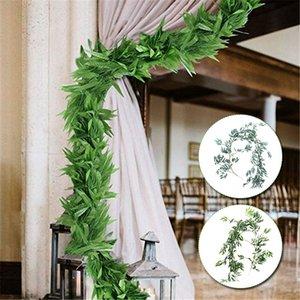 Artificial Willow vite simulazione salice Foglie della decorazione del giardino Ristorante 1.7M Grigio / Verde creativo