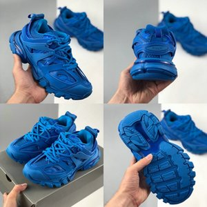 Top Quality Track 3.0 Gomma Maille Tess S Paris Triple S Sneaker Casual Shoes Women Mens Trainers Blue Red Pink Chaussures Zapatos