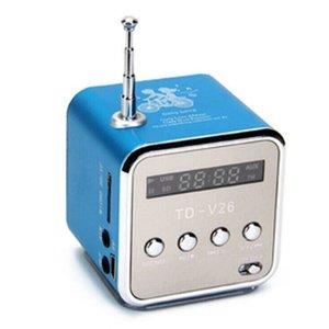 TD-V26 Mini récepteur radio avec haut-parleurs portables USB Radio FM numérique de soutien