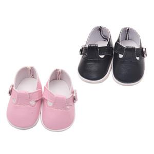 2 paires Poupées Chaussures pour Mel-chan Mellchan Baby Doll, pour 9-12inch Reborn, élégant Flats Chaussures de sport, cuir PU, Couleur Rose Noir