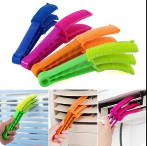 Blinds Air Conditioning Shutter Brush Multi-functional Plastic Microfiber Scourer Removable Window Dust Remover Cleaning Clip Tool DHE1064