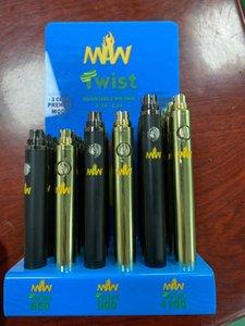 sottile penna preriscaldamento 650mAh 900mAh 1100mAh tensione variabile 510 filo batteria VS melma torsione batteria Bud tocco MAW Twist