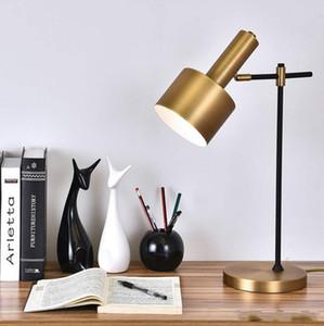 Moderna di ferro in oro Lampada da tavolo in metallo Desk Lamp Table Office luce Retro Per la casa Camera Notte Art Hotel lightin