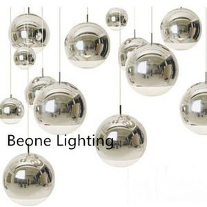 الذهب والفضة زجاج بريق أضواء قلادة غلوب الكرة LED مصباح قلادة غرفة المعيشة معلقة ومينير Lamparas بريق الإضاءة E27