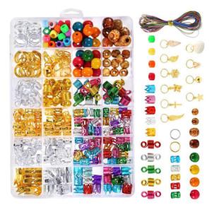 Braid Capelli Beads Cuff clip di gioielli ciondoli di capelli della treccia dei capelli Set Decor Accessori