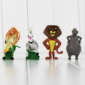 Acção de Madagáscar Alex Hippo gloria Melman Marty PVC Figura Collectable Toy Modelo para o presente crianças Frete Grátis Frete grátis EMS
