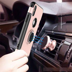 Samsung galaxy J7 MAX Hybrid Zırh Vaka İçin LG S6 S8 G6 360 Derece Stent Döner Araç Telefonu Tutucu Manyetik Kapak İçin