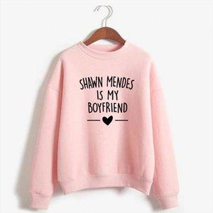 Shawn Mendes Hoodies Women Men Harajuku Autumn Winter Sweatshirt Shawn Mendes Is My Boyfriends Letter Printed Casual Sweatshirt