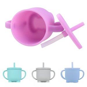 Biberon Sippy bambino Apprendimento silicone Drinkware piccoli bambini Sippy silicone Coppa Coppe Coperchi Svezzamento