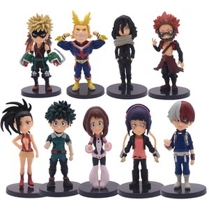 9pcs Set Anime My Hero Academia Figure Midoriya Shouto Todorok Bakugou Katsuk Hero Academ PVC Action Model Toys Dhl