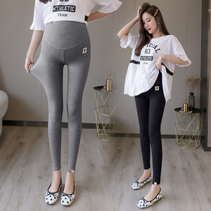 29069# 2020 Summer Thin Modal Maternity Legging High Waist Adjustable Belly Skinny Legging Clothes for Pregnant Women Pregnancy