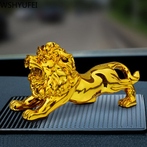 Creativity Lion statue animal model Ornament Home Office Retro Figurine Resin Crafts Desktop Decor auto interior decoration