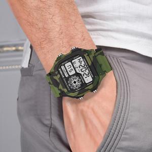 SYNOKE Montres Montre Homme Sport multifonction étanche lumineux Camouflage étudiants Montres-bracelets Relogio Masculino