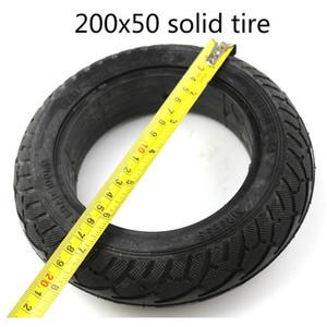"""전기 스쿠터 타이어와 휠 8 """"스쿠터 200x50 타이어 인플레이션 전기 자동차 알루미늄 합금 휠 200x50 솔리드 타이어"""