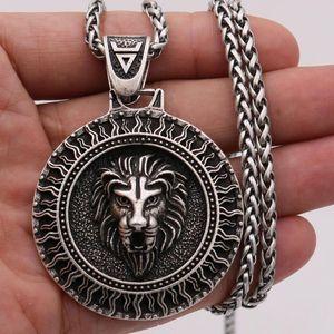 Gioielli Collana del pendente del leone slava Dio Sole Veles simbolo Amuleto vichingo