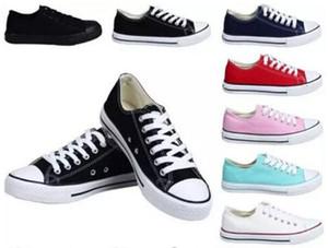 2021 Chaussures femmes toile pour hommes Nouveau 15 couleurs Toutes les tailles 35-46 unisexe haut-basses adultes lacées Chaussures Casual Chaussures de l'espadrille Drop Shipping