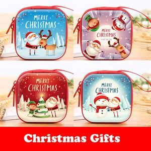 크리스마스 선물 가방 캔디 아이들을위한 선물 소녀 크리스마스 미니 동전 지갑 산타 지퍼 선물 홀더