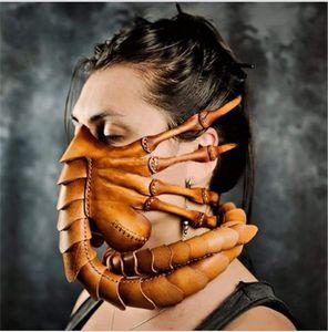 Хэллоуин Bug маски из латекса Маски Headgear Cute Face Mask Worm Хэллоуин фестиваль костюма Cosplay Свободная перевозка груза