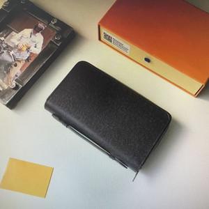 M61506 Top-Qualität Echtes Leder ZIPPY XL Wallet Men Zipper Lange Kartenhalter Geldbörsen Shows Exotische Clutch Wallets mit Kasten