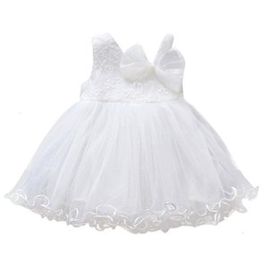 Clearance Excelent New Summer Mesh Toddler Baby Girls Sleeveless Solid Tulle Dress Floral Party Princess Dresses Z02052KGD Deals