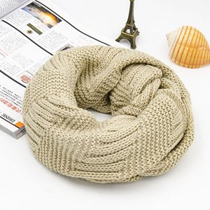 Winter Women Loop Ring Scarf Circle Knitted Man Acrylic Soft Warm Infinity Snood Scarf For Ladys Neck 2020 New Arrive